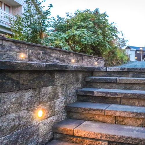 Splittblokk trapp og mur